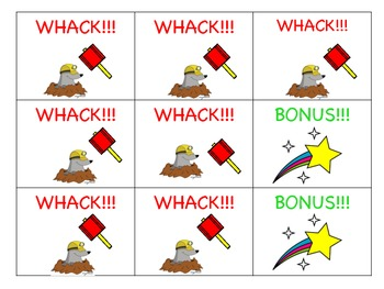 Sight Word Whack-A-Mole Game