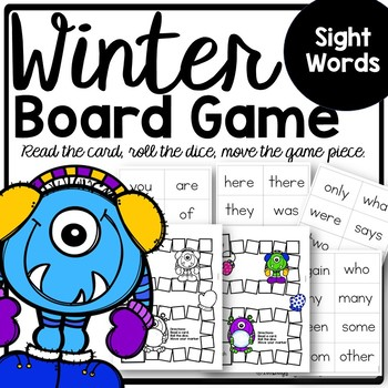 Sight Word Winter BOARD Game