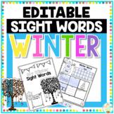 Winter Sight Word Editable