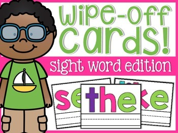 Sight Word Wipe-Off Cards