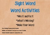 Sight Word--Word Activities:  Mix It Fix It, What's Missin