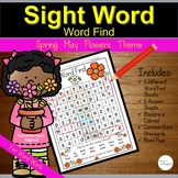 Sight Words Practice | Word Find | Spring May Flowers