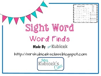 Sight Word Word Finds