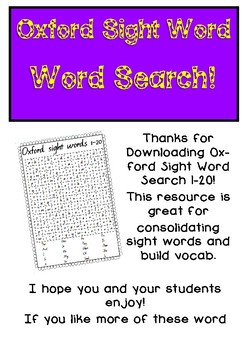 Sight Word Word Search!