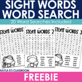 Sight Word: Word Searches