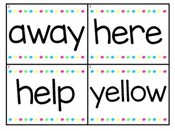 Sight Word Word Wall Cards - Dolch