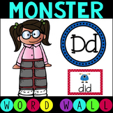 Sight Word – Word Wall Literacy Center Monster Themed (Ready to Edit)