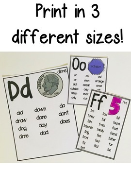 Sight Word Word Wall Posters