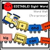 EDITABLE! Sight Word Word Wall/Flashcards (Pre-primer)