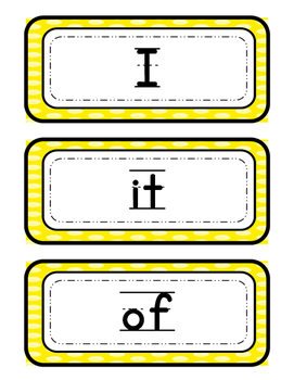 Sight Word - Word Wall Strips