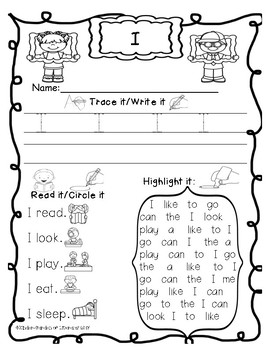 Sight Word Word Work-Red