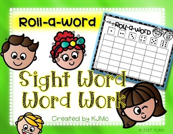 Daily 5: Sight Word / Word Work - Roll-a-Word