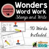 Sight Word Work: Wonders Reading