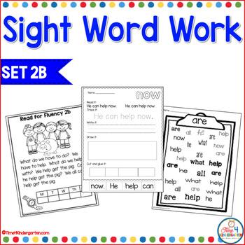 Sight Word Work 2b