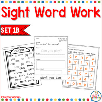Sight Word Work 1b
