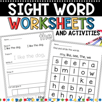 Sight Word Work BIG Bundle 1 and 2