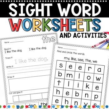 Sight Word Work BIG Bundle 1 and 2