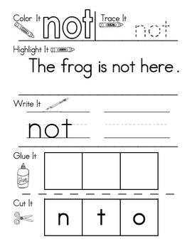 Sight Word Work Bundle