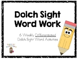 Sight Word Work: Dolch List 1-20
