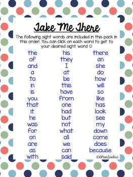 {Sight Word Work For Little Learners: Set 1}