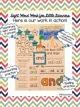 {Sight Word Work For Little Learners: Set 2}