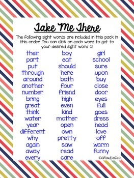 {Sight Word Work For Little Learners: Set 3}
