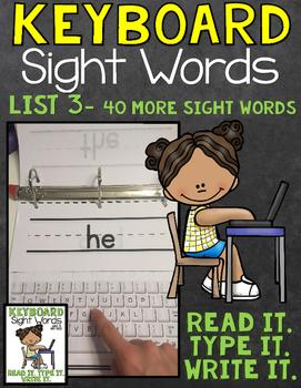Sight Word Work Keyboard List 3