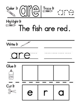 Sight Word Work Set 3