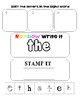 Sight Word Work: Sort it, Rainbow Write it, Stamp it~THE