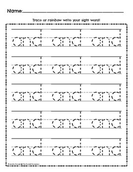 Sight Word Work: and