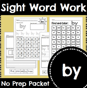 Sight Word Work: by