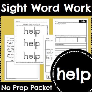 Sight Word Work: help