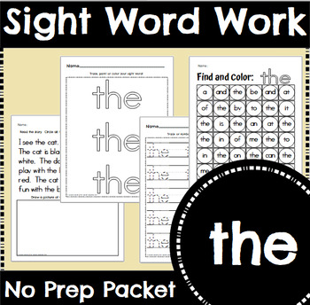Sight Word Work: the