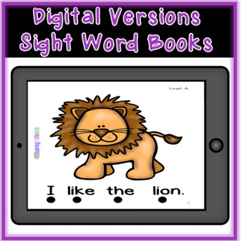 Sight Word Work using Emergent Books Packet One