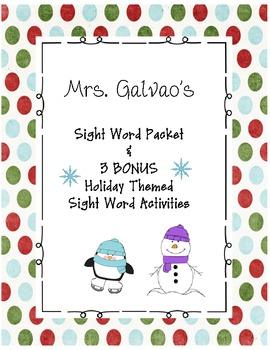 Sight Word Work with Bonus Holiday Activities!