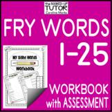FRY Sight High Frequency Words Kindergarten WORKBOOK with