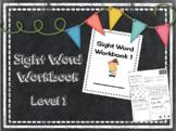 Sight Word Workbook Level 1