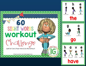 Sight Word Workout Challenge