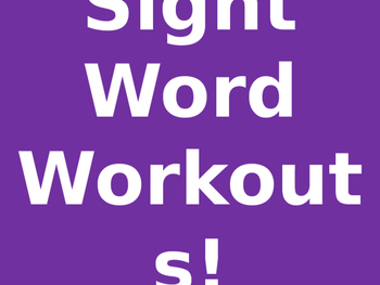 Sight Word Workout Words 1-5