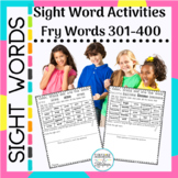 Sight Word Worksheet Activities Fry Words 301-400