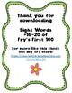 Sight Word Worksheet Pack: Words 16-20