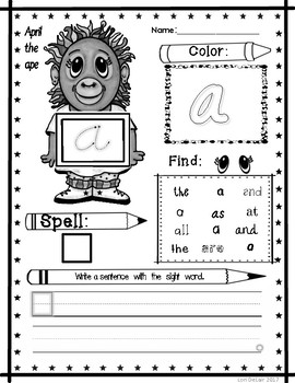 Bundle Pack 100 Sight Word Worksheets