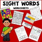 Sight Word Worksheets Kindergarten
