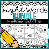 Sight Word Worksheets Distance Learning BUNDLE (Pre-primer