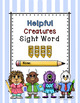Sight Word Worksheets/Book List 4