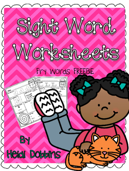 Sight Word Worksheets FREEBIE