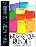 Sight Word Worksheets- For Special Education