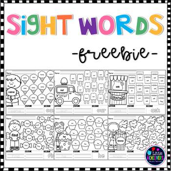 Sight Word Worksheets Freebie