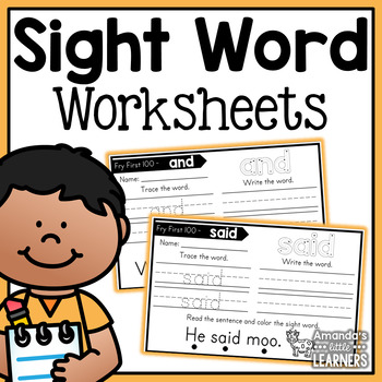 Sight Word Worksheets - Fry First 100