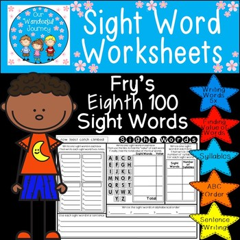 Sight Word Worksheets     Fry's Eighth 100 Sight Words